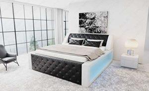 Sofa Dreams Arezzo Lit à sommier tapissier Noir/blanc