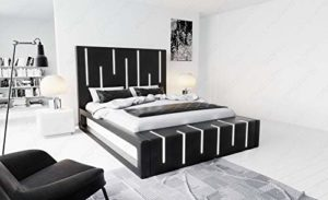 Sofa Dreams Milona Lit à sommier tapissier avec éclairage LED
