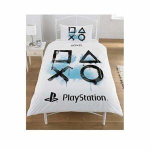 Sony Playstation Parure de lit, Polycoton, Blanc, Simple