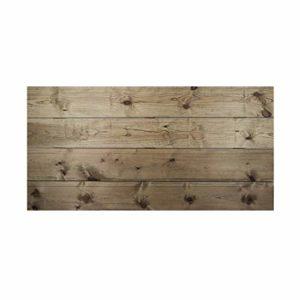 Decowood – Tête de lit pour Chambre à Coucher, Baguettes Horizontales Coupure Droite, Bois de Pin Flandres Vieilli – 140 x 80 cm
