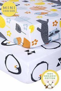 Graco Pickle & ✮ Drap-housse en jersey 100% coton bio et drap-housse pour jeu de 2 × × × Matelas parfait pour le jeu et le parc