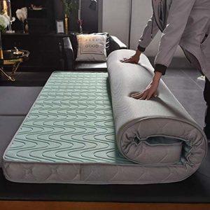 JAHQ surmatelas, Matelas futon Tatami, Tapis de Couchage épais Ultra Doux, Matelas Traditionnel pour dortoirs étudiants 150 x 200 cm