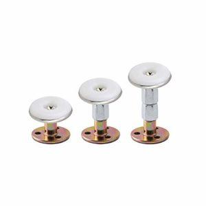 Skystuff Lot de 3 cadres de lit réglables filetés et anti-secousses – Support télescopique pour hauteur de lit réglable – Ensemble de griffes