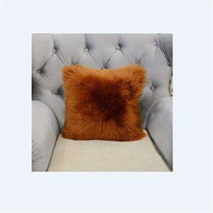 XJZM Oreiller en peluche pour canapé, fenêtre, lit, bureau, imitation laine