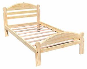 Arizona Lit double en pin massif non fini avec lattes en bois dur pour chambre à coucher garçons filles enfants Cadre de lit en bois facile à monter