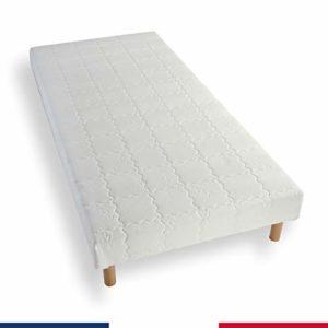 Atelier de Morphée Sommier tapissier 110×180 lattes bois massif