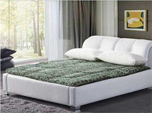 Ayanx Protège-matelas épais antidérapant pour dortoir avec rembourrage hypoallergénique 180 x 200 cm