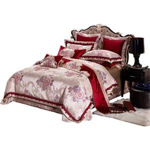 BB.er Continental luxe satin literie haut de gamme dix costume mariage lit double textile, rouge