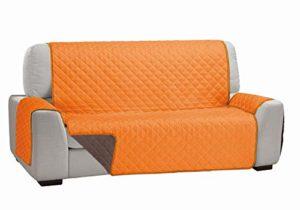 Cardenal Textil Housse de canapé 3 Places Double Coque, Orange Marron