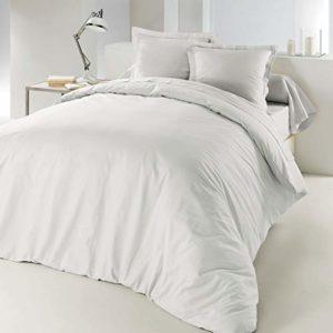 Douceur d'Intérieur LINA Housse de couette Coton Blanc 240 x 220 cm