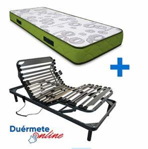 Duermete Artiflex HR Matelas Complet pour lit à sommier électrique articulé 5 Niveaux Fabriqué en Espagne, Pack 180 x 190 (2 Lits indépendants)