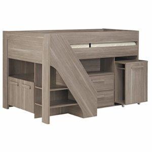 Gami haute Compact Sleeper, bois, beige, 206x 206x 123cm