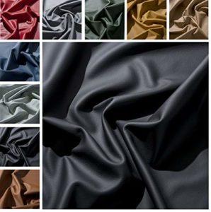 IPEA Coupes de Cuir véritable de qualité Premium en différentes Couleurs et Tailles – Surface Lisse Coupe de 30 x 30 cm, Noir