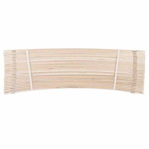 Jekatex Sommier à Lattes 7 Zones sans Cadre en Bois de Bouleau certifié FSC 90 x 200 cm