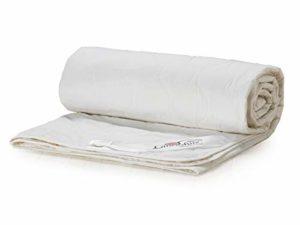 Lancashire Textiles Couette d'été légère 100% coton pur naturel 1tog, 100 % coton, blanc, Super king
