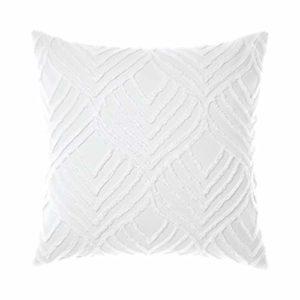 linen house Palm Springs Taie d'oreiller Continental Blanc 65 x 65 cm