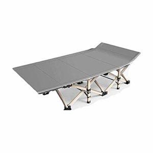 LKNJLL Lit Pliant Camping for Adultes, Portable Pliable Camping lit, en Aluminium Robuste Lit Compact avec Oreiller, Pas Besoin d'installer / 10 Secondes Pliant/alitement Portable (Color : Gray)