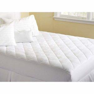 Lux Decor Matelas pour lit king size – Housse de matelas extensible – Matelas avec poche de 40,6 cm de profondeur – Surmatelas hypoallergénique blanc (1, king size)