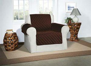 Marron / Chocolat Housse de fauteuil – Protecteur de fourniture Housse Luxueuse Matelassée