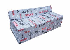 Matelas pliant sofa pour adultes et enfants, choix des couleurs 200 cm de long (NATURE)