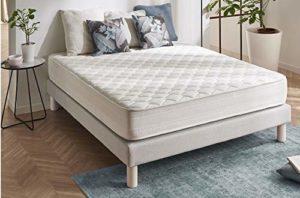 Naturalex – Matelas Deluxe 140 x 190 cm à mémoire de forme VISCOTEX® + Blue Latex® haute résilience 20 cm,à 7 zones de confort, EQUILIBRÉ