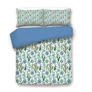 Parure de lit décorative 3 pièces avec 2 taies d'oreiller Multicolore King Color#16