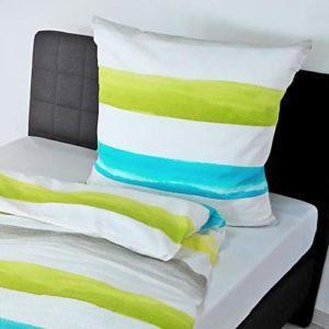 Parure de lit en seersucker motif 6532 couleur citron (03), multicolore, 135 x 200 cm