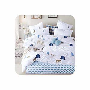 Parure de lit Surprise en Pur Coton Couleur A/B Motif Double Face Dessin animé Simplicity Parure de lit Housse de Couette Taie d'oreiller 4 7 pièces, Coton, T-1010, EBPO