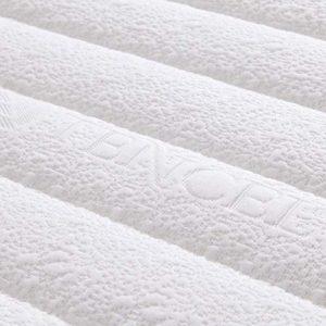 PLOLLD Hôtel en mousse à mémoire surmatelas en latex, 4 pouces gel latex matelas haut de gamme matelassée Cover (Couleur : B, Size : Twin-90×200cm)