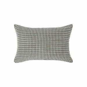 Sourcingmap® Home Chambre à coucher Housse de coussin en velours Motif à rayures Toss Taie d'oreiller Coque pour canapé, gris, 12″ x 18″