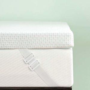 Subrtex Surmatelas en Mousse à mémoire de Forme avec Housse en Bambou hypoallergénique 5 cm pour lit Simple
