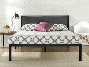 Zinus Korey 35.6CM Platform Metal Bed Frame with Upholstered Headboard