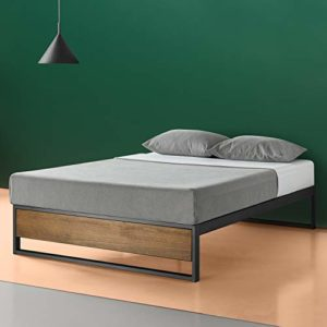 Zinus Lit à plate-forme 14 pouces sans tête de lit Suzanne / Support de matelas/ Pas besoin de sommier/ Lit prêt à l'emploi/ Montage facile/ 160 x 200 cm