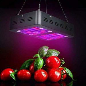 Alician 60LEDs élèvent Une Lampe à Spectre Complet pour Plantes d'intérieur Veg Flower AC86-265V 600W Noir Règlements américains