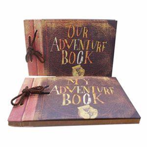 Alician Album d'aventure Bricolage Scrapbook Manuel Papier Kraft Vintage Feuille commémorative 40 Pages 29 CM * 19 CM
