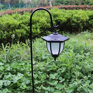 Alician Jardin extérieur de Cour de Villa de lumière de pelouse actionné Solaire a mené Le décor de Paysage de Lampe lumière Blanche