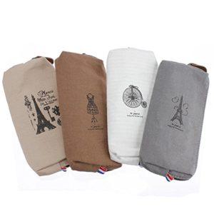 Bazaar Toile étui à crayons cosmétiques de stockage sac tour eiffel paris