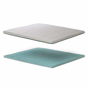 Bedshire Surmatelas orthopédique à mémoire de forme pour lit double 160 x 190 cm Hauteur 6 cm avec revêtement déhoussable Futon