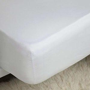 Belladorm Drap-Housse en Coton Pima 450 Fils Extra Profond Blanc