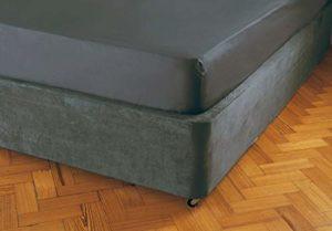 Belledorm – Tour de lit extra large (48,3cm) – Transforme votre base de lit – Imitation daim de luxe, charbon, Double