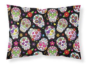 Caroline S Treasures Bb5116pillowcase Jour des Morts Noir Taie d'oreiller, Multicolore, Standard
