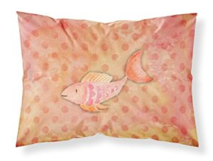Caroline S Treasures Poisson Orange Aquarelle Taie d'oreiller, Multicolore, Standard