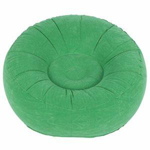 Chaise Pliable de Sofa Simple floqué de Sommeil, canapé Simple de Loisirs de PVC, Cadeau de Balcon pour Le Jardin de Salon(Light Green)