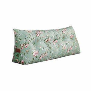 Duveteux et Doux décoratif Coussin taies d'oreille Non Chevet Sac Souple Tatami Triangle Coussin Impression Toile Double Long Coussin Simple Warm Coussin Sofa (Color : A, Size : 120x50x20cm)