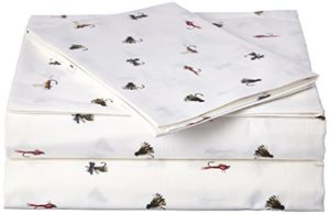 Eddie Bauer 213016 Coton Sheet Set, Twin, la pêche Mouches