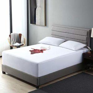 EXQ Home Housse de Matelas 100% imperméable et hypoallergénique – Poche de 25,4 à 45,7 cm de Profondeur (Premium, Respirant, sans Bruit). Twin XL Blanc