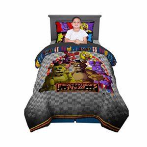 Franco Parure de lit pour enfant avec housse de couette et draps pour lit double 5 nuits chez Freddy's