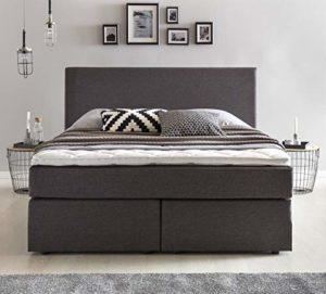 Furniture for Friends Benno Lit à sommier tapissier avec Matelas en Mousse Confort et Matelas à Ressorts ensachés pour lit Double