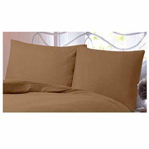 Gaveno Cavailia Paire de taies d'oreiller en Flanelle de Coton brossé 100% Flanelle Facile d'entretien pour Chambre à Coucher, 50 x 75 cm, 50 x 75 cm