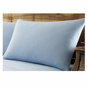 Gaveno Cavailia Paire de taies d'oreiller en Flanelle de Coton brossé de qualité supérieure, 100% Coton brossé Facile d'entretien, Bleu 50 x 75 cm, 50 x 75 cm, 50 x 75 cm